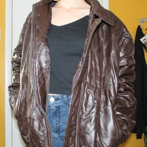 CW Classics Brown Leather Jacket Mens